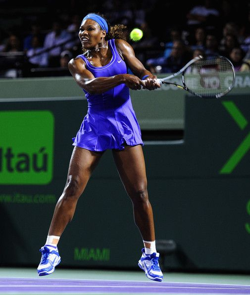Serena clocking her Backhand