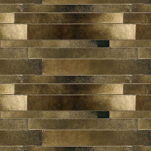 Artistic Tile Ceramic Fusioni Collection Black Gold Metallic Stilo Linear Love It
