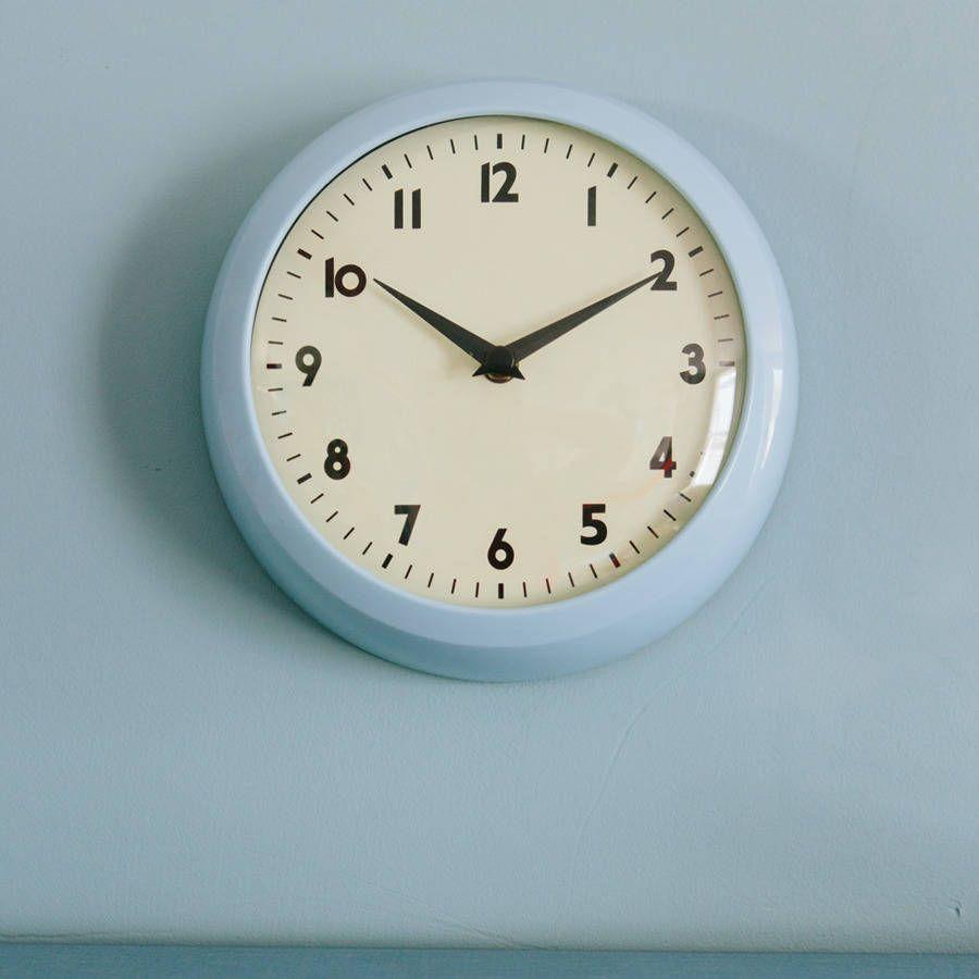 Retro Kitchen Wall Clock Blue From Notonthehighstreet Clocks