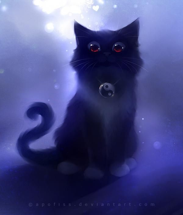 Cute Cat Illustrations By Apofiss Cuded Anime Kitten Cats Illustration Cute Anime Cat