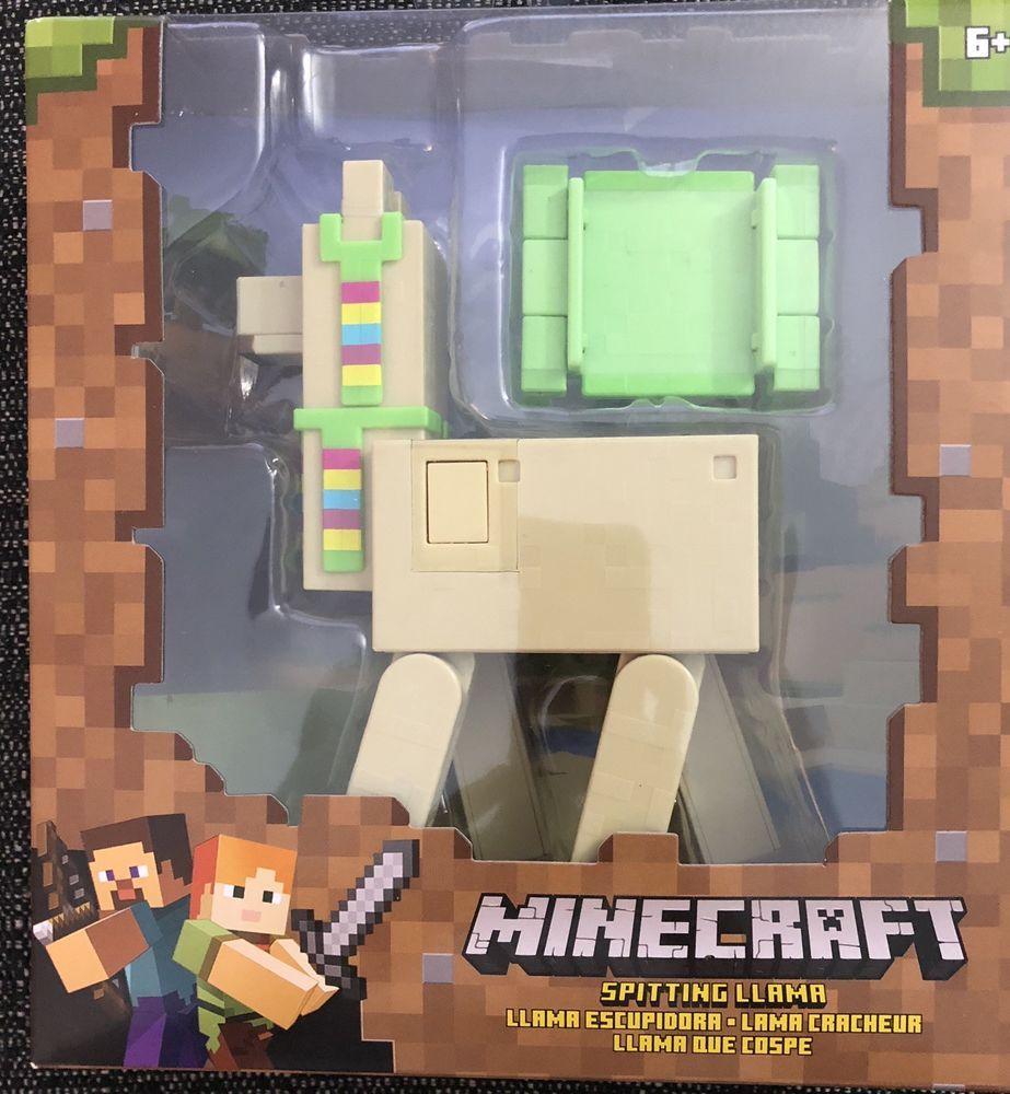 New Unopened Minecraft Spitting Llama Action Figure With Headdress Craft Carpet Minecraft Playing Game Action Figures Disney Toys Minecraft