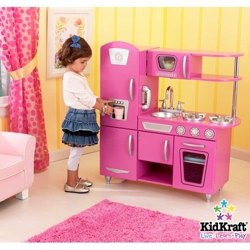 Vintage Kitchen Playset In Bubblegum Pink Preschools, Daycare