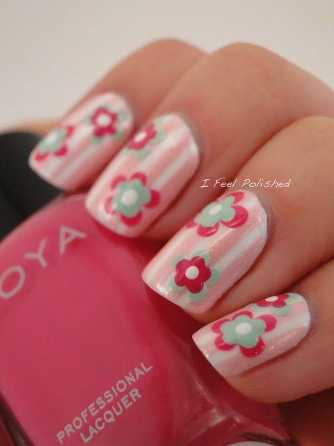 I Feel Polished Floral Nails Nail Art For Kids Cute Nail Art