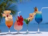 cooling down with fruity drinks