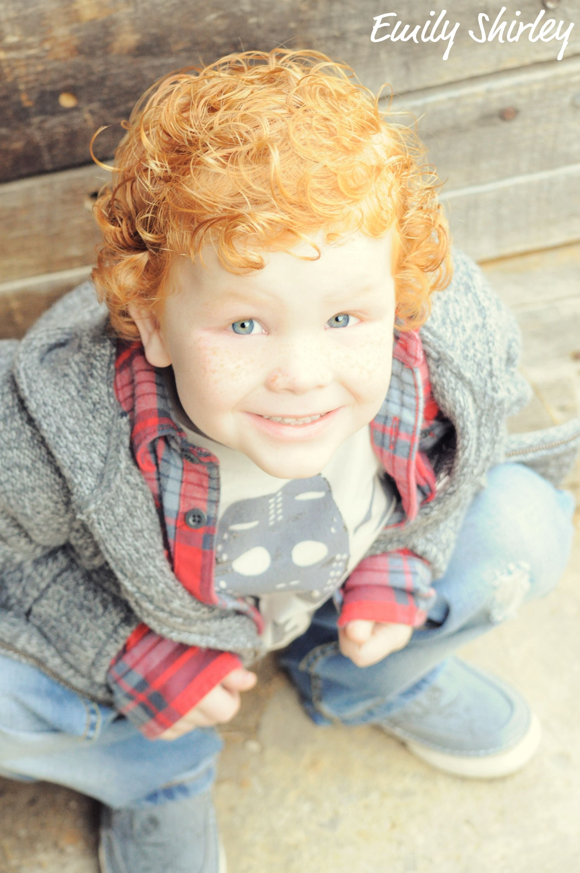 I have a thing for kids with red curly hair Reminds me on my