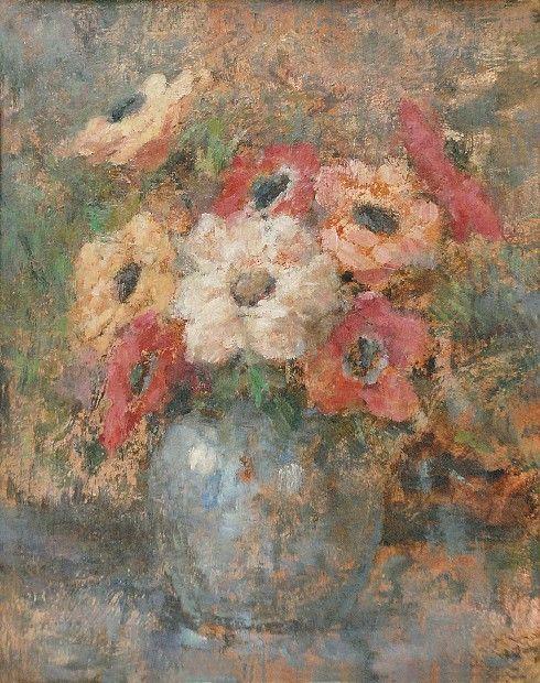Olga Boznanska 1865 1940 Anemony W Wazonie Olga Boznanska Artist Painting