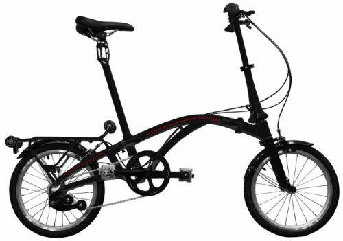 Dahon Curl I3 Stealth Black 3 Speed Folding Bike Bicycle