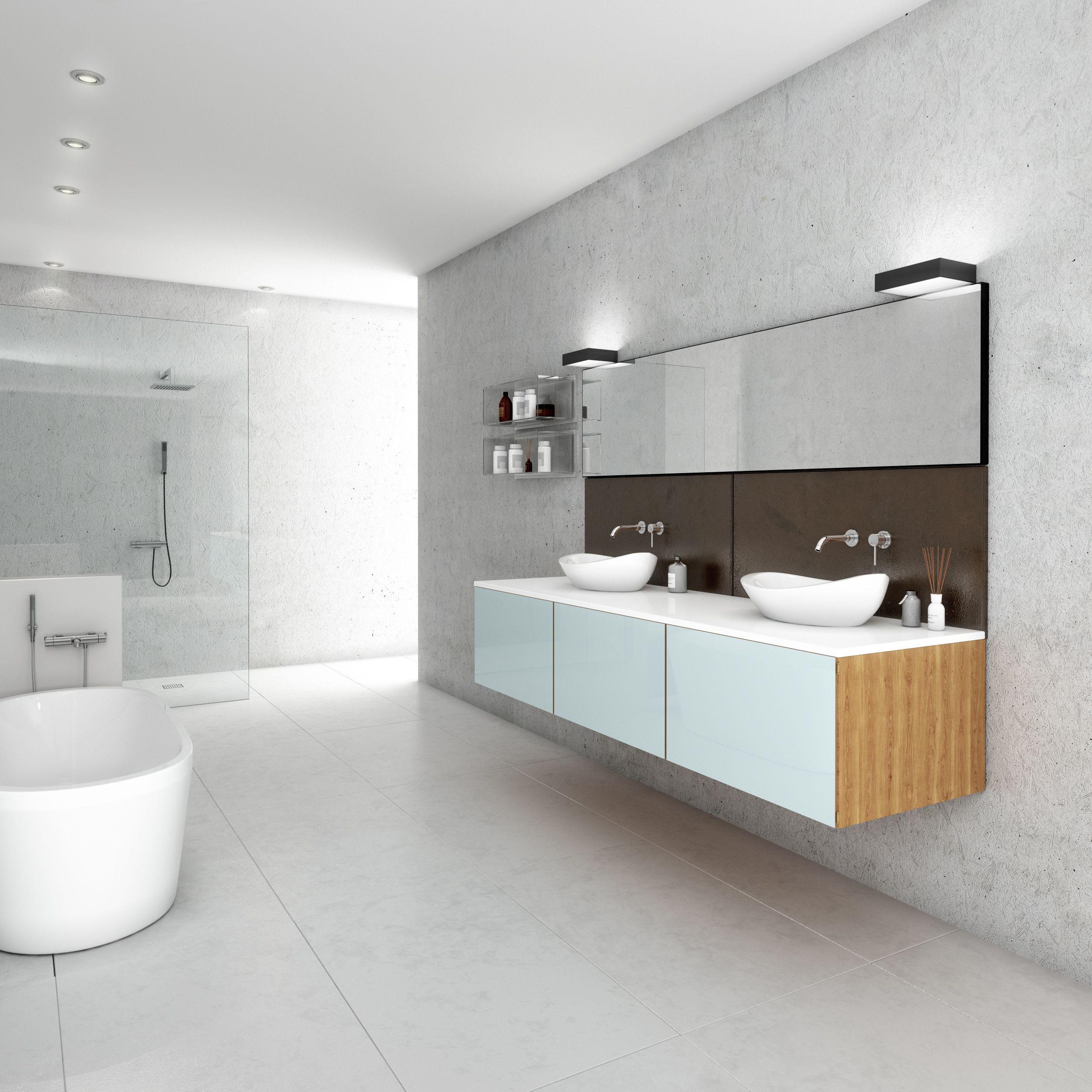 wohnen im loft stil mit graut nen moderner badkeramik badfliesen in xxl und einer. Black Bedroom Furniture Sets. Home Design Ideas