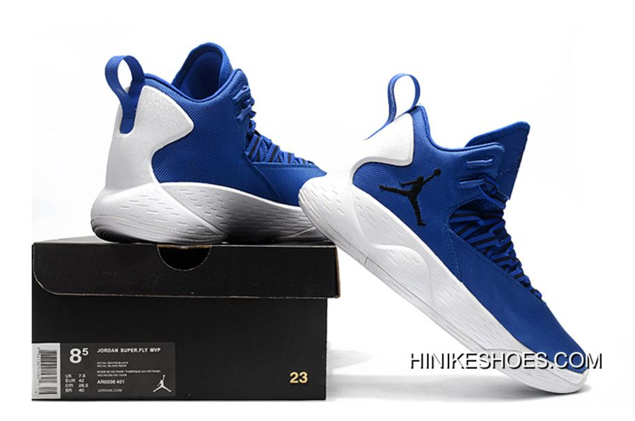 detailed look ffbf9 5b9ce Nike Jordan Super.Fly MVP PF Hyper Royal White Men s Size AR0038-401 Basketball  Shoes New Style