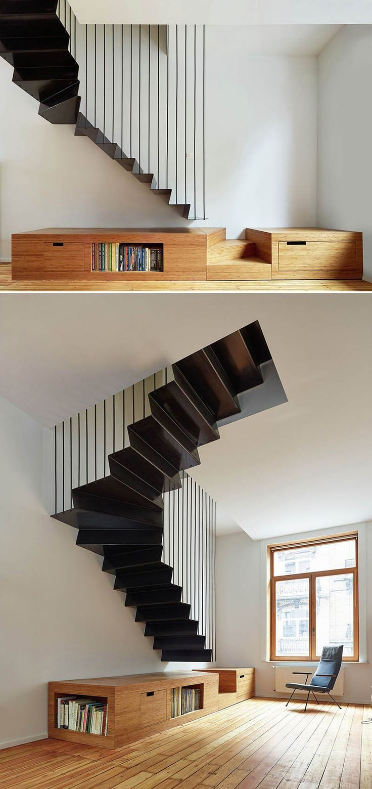 Best Design Detail – A Suspended Steel Staircase Interior 640 x 480