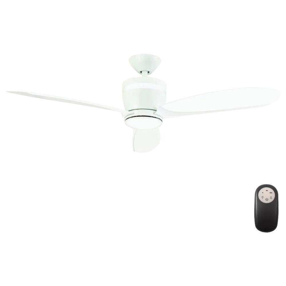 Home Decorators Collection Federigo 48 In Led White Ceiling Fan Sw1618wh The Home Depot In 2021 White Ceiling Fan Black Ceiling Fan Ceiling Fan