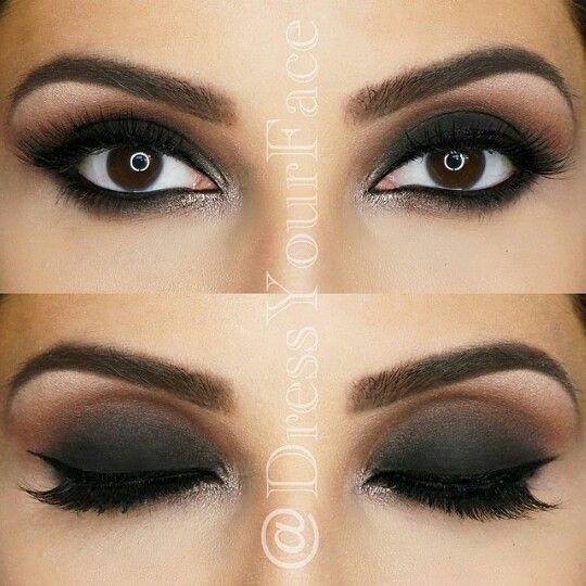 Ojos ahumados Maquillaje Pinterest Ojo ahumado, Ojos y Ojos lindos