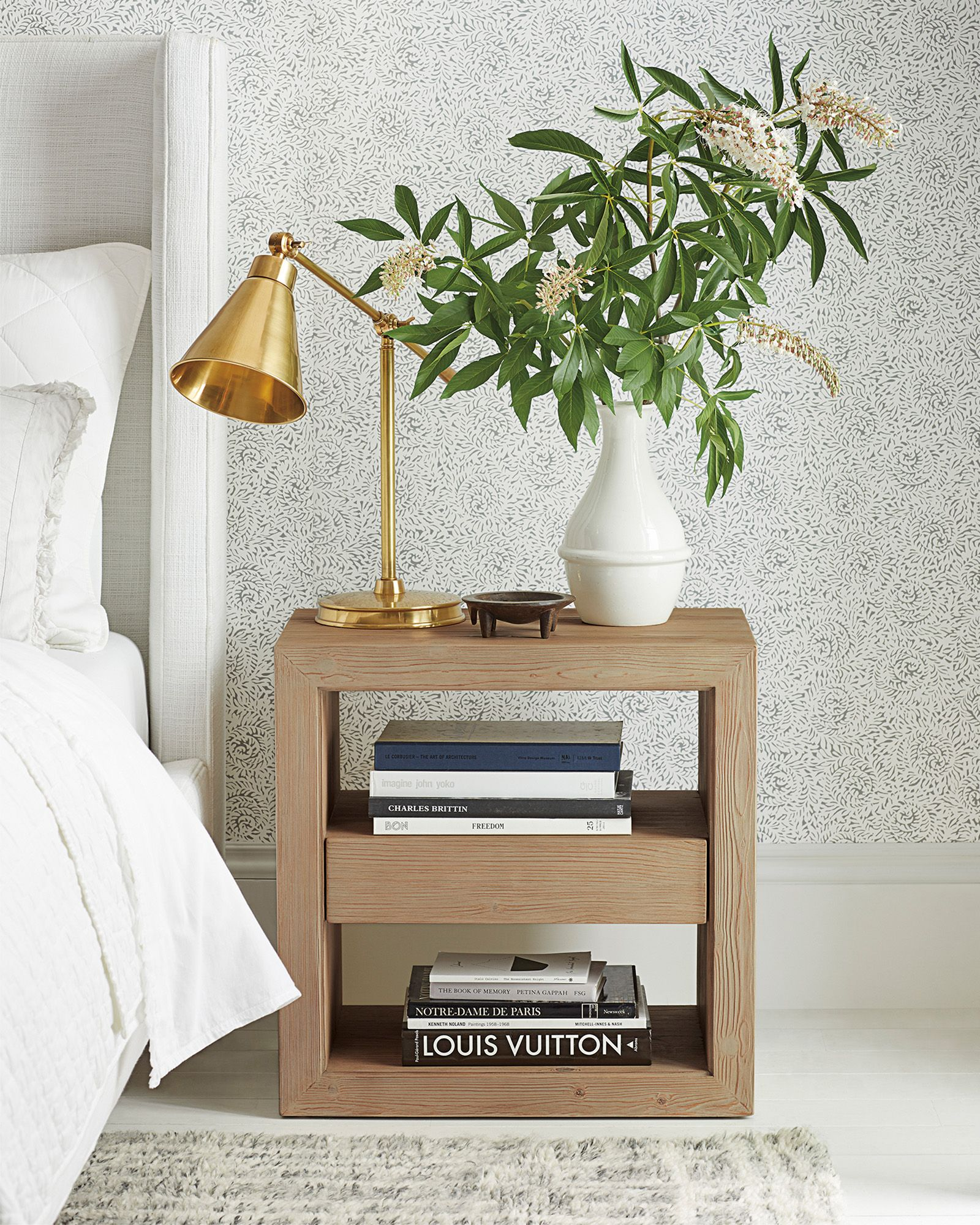 side table with drawer for bedroom on meadowsweet wallpaper bedroom night stands side table with drawer nightstand decor pinterest