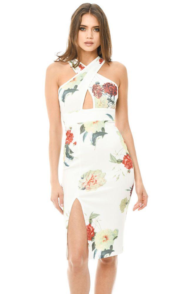 Womens Teal Lace Detail Bodycon Midi Dress