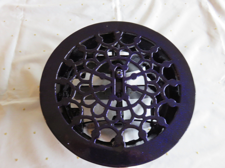 Cast iron powder coated round air vent etsy cast iron