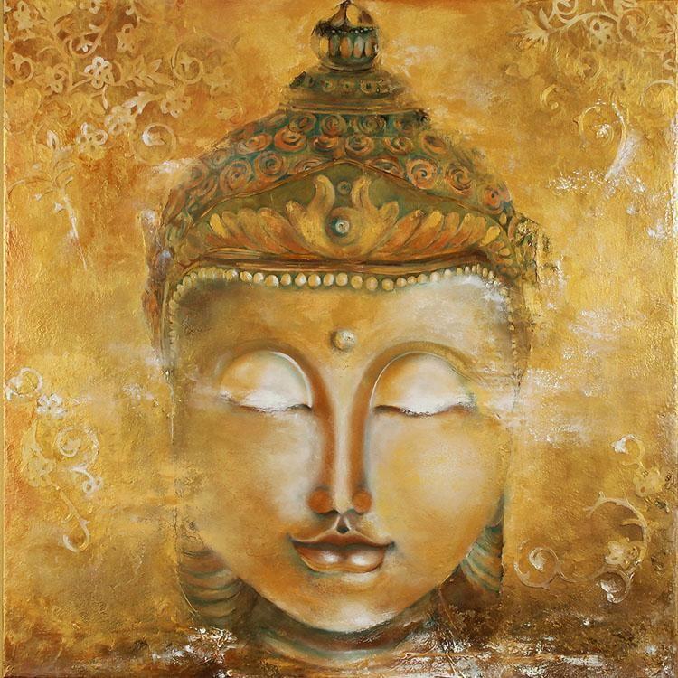 Vintage Buddha Photo Wallpaper 3D Custom Wallpaper oil painting Wall ...