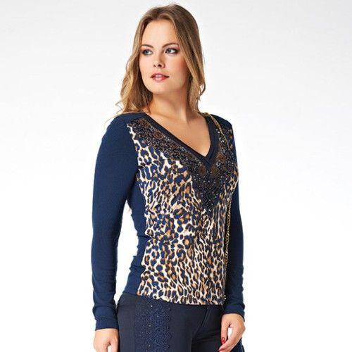 Buyuk Beden Swarovski Tasli Sik Bayan Bluz Triko 237 Triko Bluz Bluz Modelleri