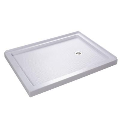 Dreamline Slimline 48 In W X 36 In D Double Threshold Shower Base In White With Right Hand Drain Dlt 1036482 With Images Corner Shower Corner Shower Base Shower Base