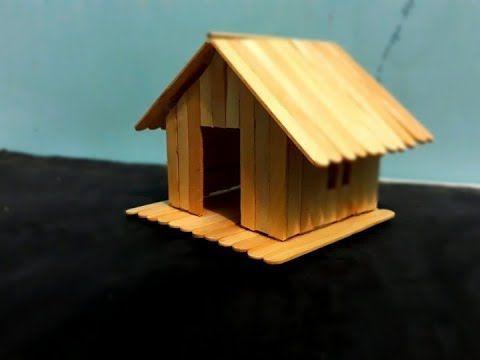 Cara Simpel Membuat Miniatur Rumah Sederhana Dari Stik Es Krim Youtube Miniatur Rumah Tempat Pensil