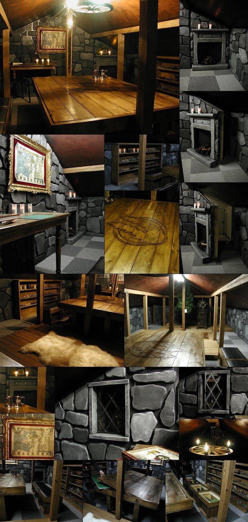 Basement Game Room Designs: I'd Love Our D&D Room To Look Like This.