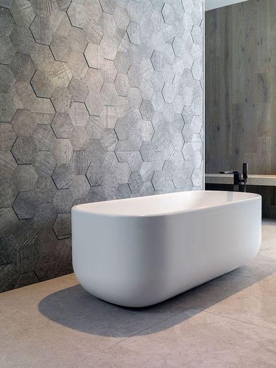40 Modern Bathroom Tile Designs and Trends — RenoGuide - Australian Renovation Ideas and Inspiration #bathroomtiledesigns