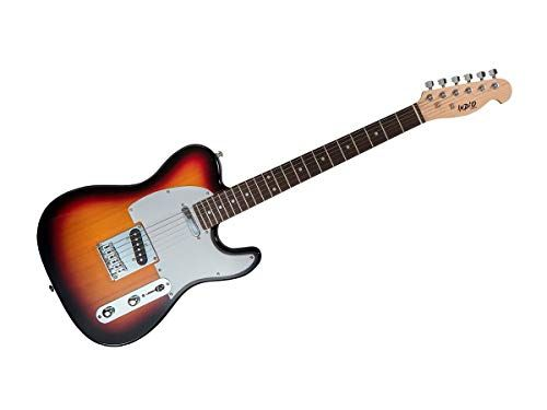 Monoprice Indio Retro Classic Electric Guitar – Sunburst, With Gig Bag #electricguitars