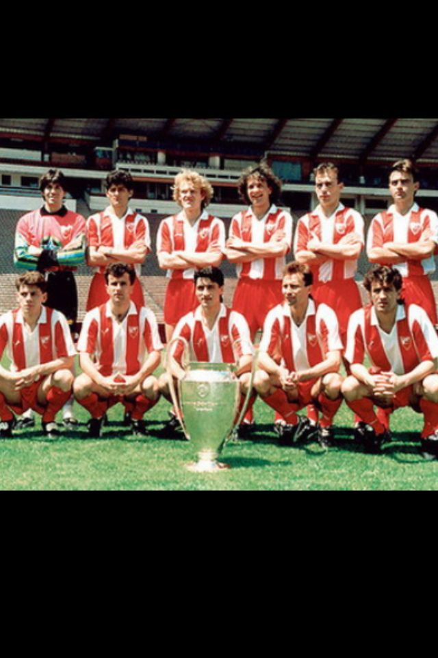 Estrela Roja De Belgrado Campeon Europeo De 1991 Red Star Belgrade Uefa Champions League World Football