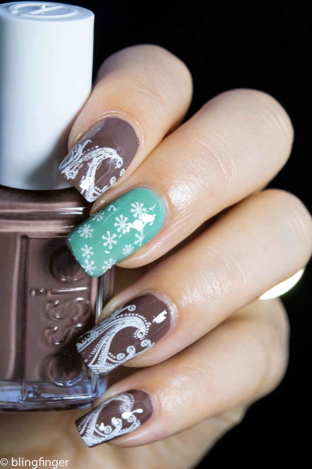 Mint Chocolate Nail Art Nagels Pinterest Nagel