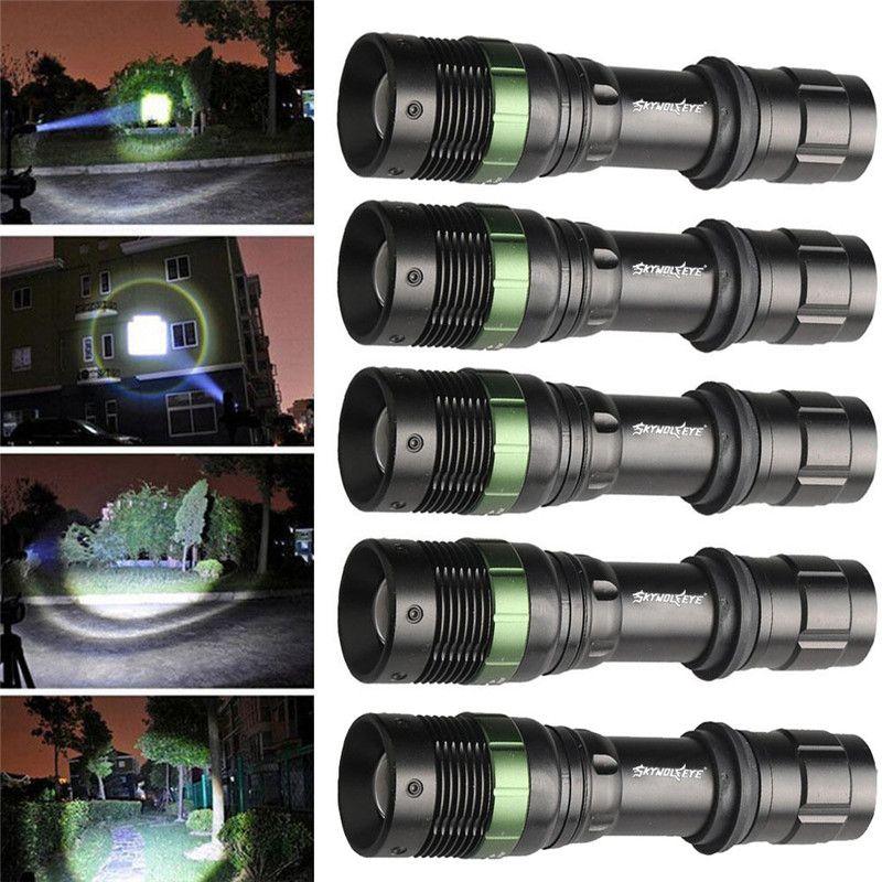 Tactical 6000LM Green LED Flashlight Hunt Torch Weaver Picatinny Mount Gun Lamp