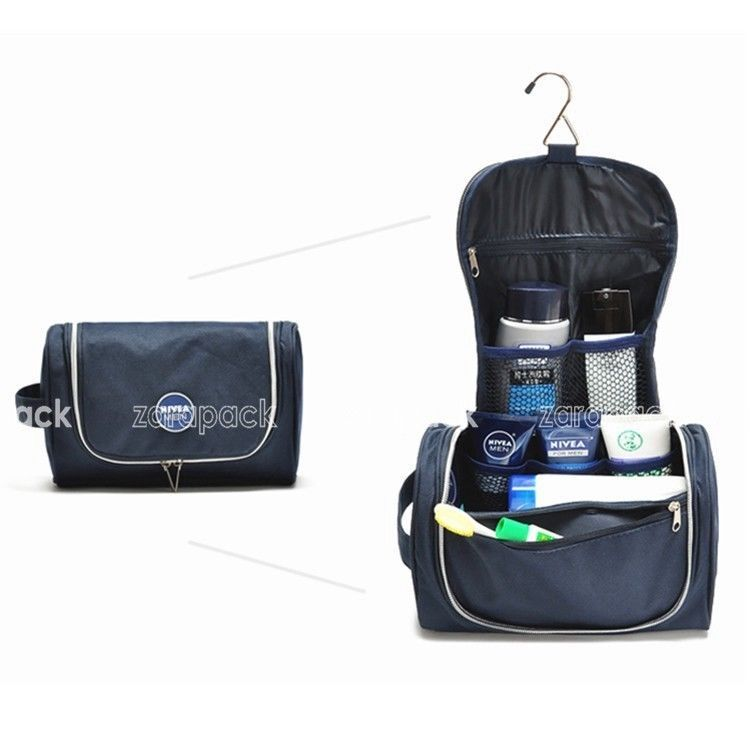 High Quality Canvas Men Hanging Toiletry Bag Travel Cosmetic Bag With Hook   Unbranded 7c3437cff1