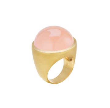 Bubble Ring in Rose Quartz available in Medium and Large. Also available in Chalcedony and Blue Chalcedony.