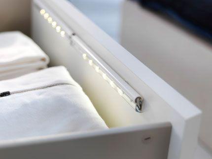 DIODER ledverlichting op batterijen in een lade - Bijkeuken ...