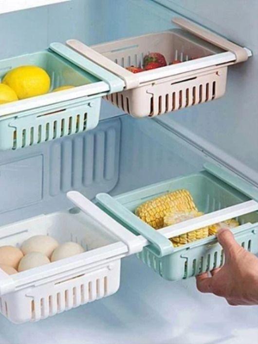 Adjustable Fridge Storage Basket