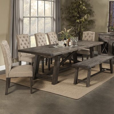 Laurel Foundry Modern Farmhouse Colborne Extendable Dining Table Dining Room Sets Farmhouse Dining Table Dining Table In Kitchen