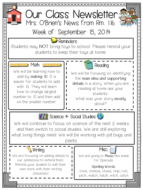 Class Newsletters Freebie Included Read Like A Rock Star