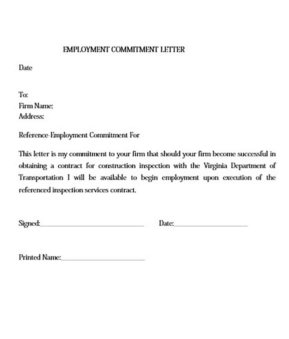 Commitment Letter And How To Make It Impressive To Read