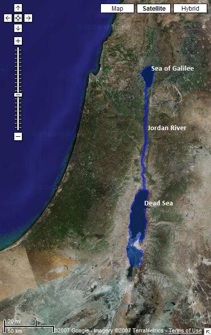 Satellite image from google maps with the sea of galilee jordan satellite image from google maps with the sea of galilee jordan river publicscrutiny Images