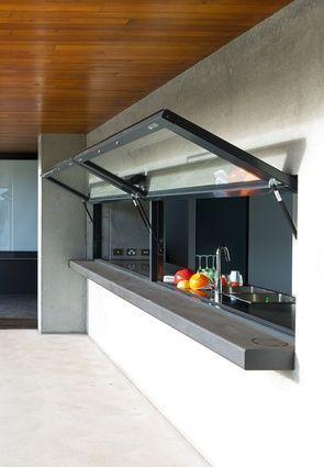 Markisen Fenster In Der Küche öffnen Es Bis Zum Eingang Deck, So