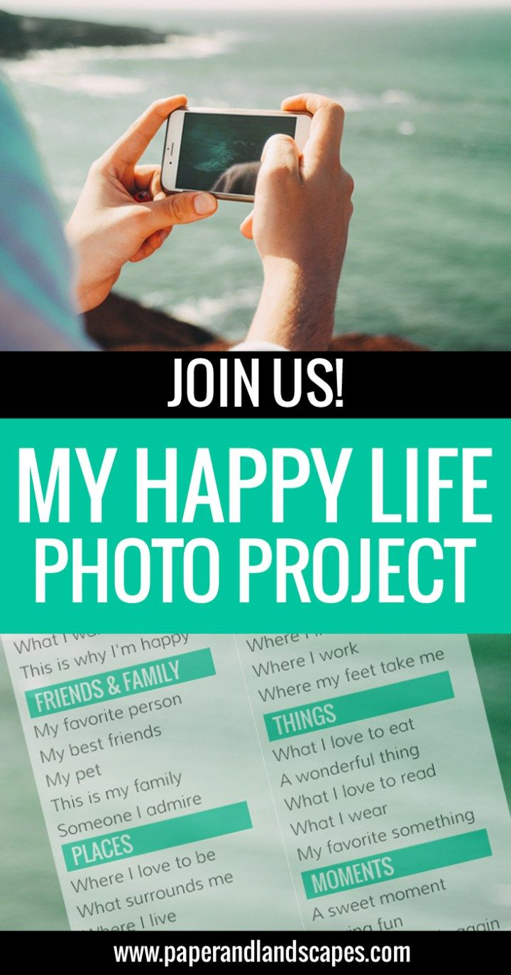 """Join us in our """"My Happy Life"""" Photo Project - It's free and it's fun! - Paper and Landscapes"""