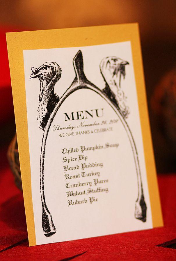 how to make a dinner menu card