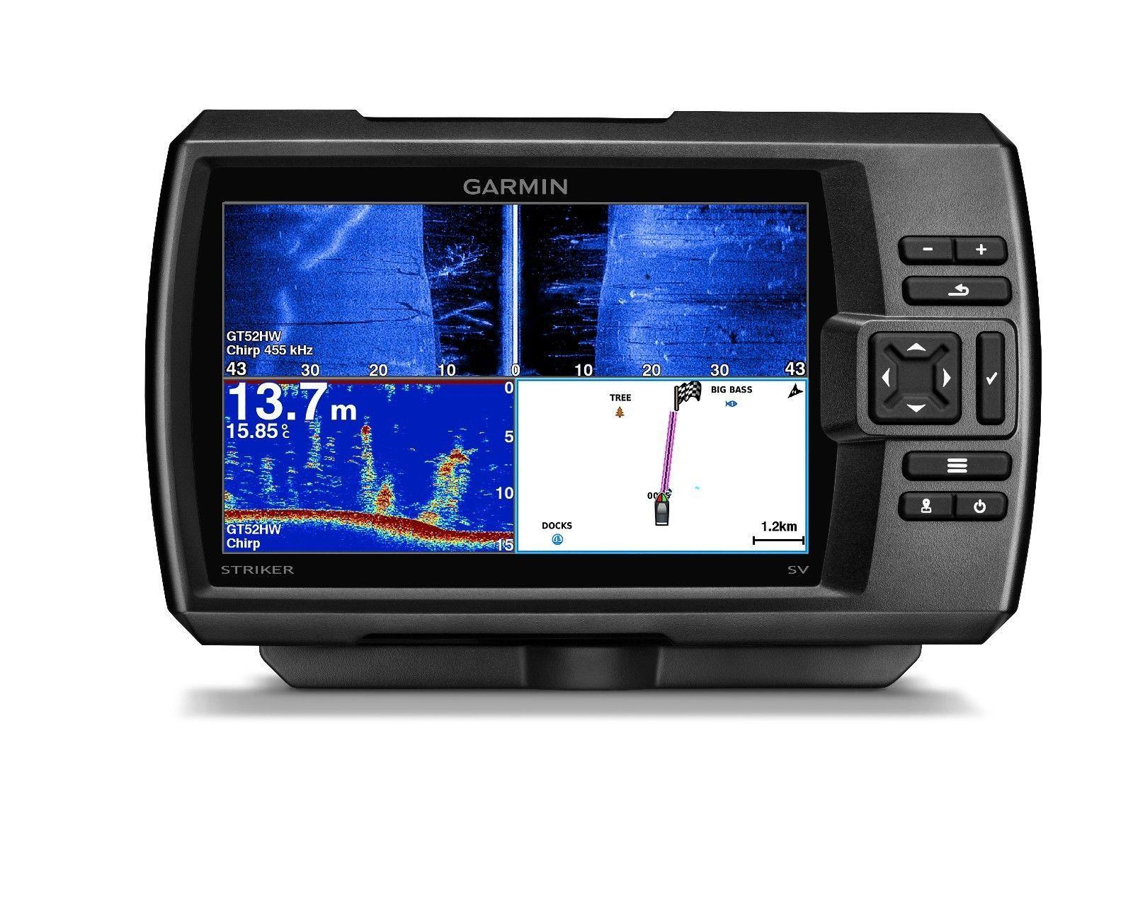 "Garmin STRIKER 7sv Fishfinder 7"" LCD, GPS, Side/ClearVu"