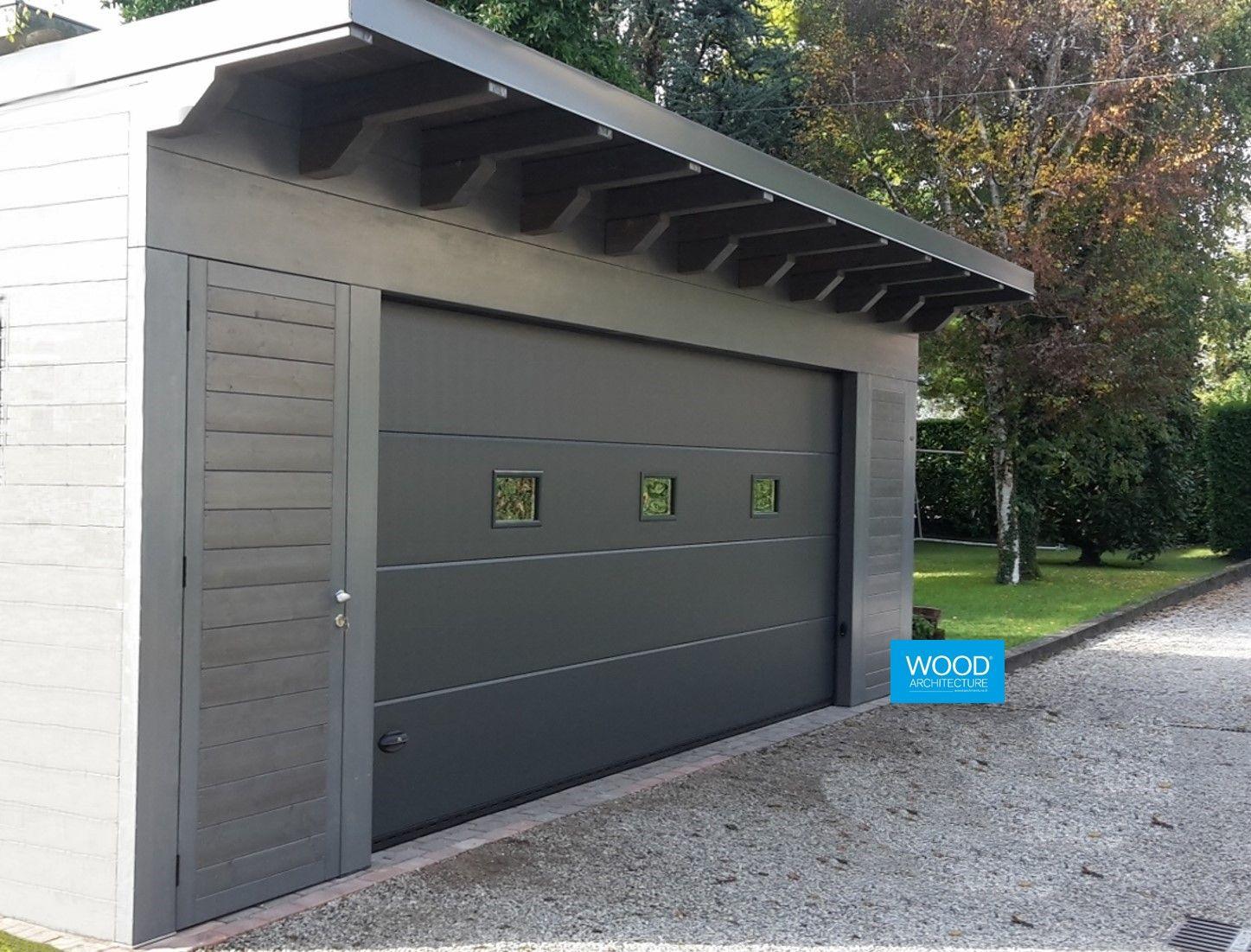 Colori Tetti Legno Lamellare garage in legno abete lamellare colore grigio con sezionale
