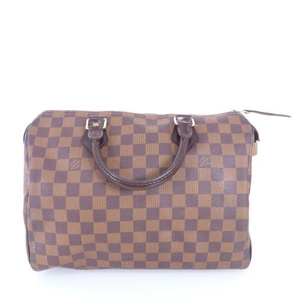 louis vuitton lv tasche bag speedy braun damier canvas luxus im504 bei. Black Bedroom Furniture Sets. Home Design Ideas