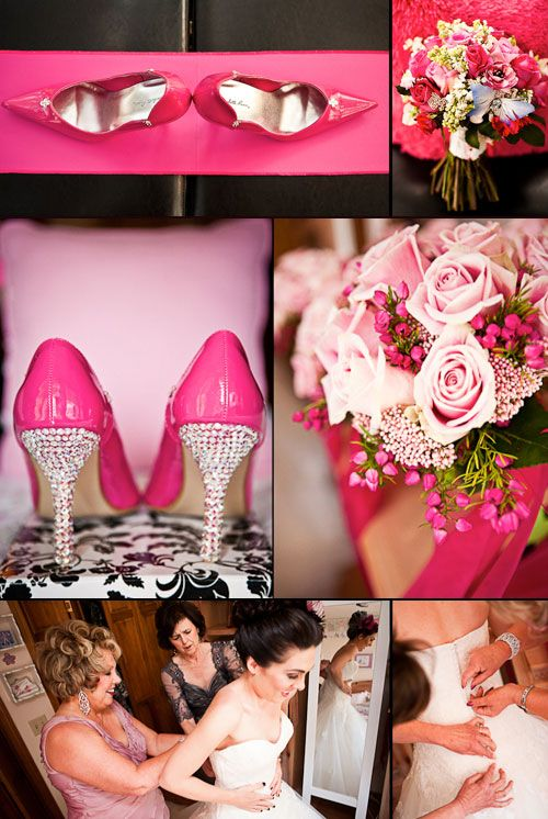 Hot pink wedding shoes - photo by Gray Photography | Shoes ...