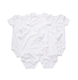 Carter's® Baby White 5-pk. Short Sleeve Bodysuits