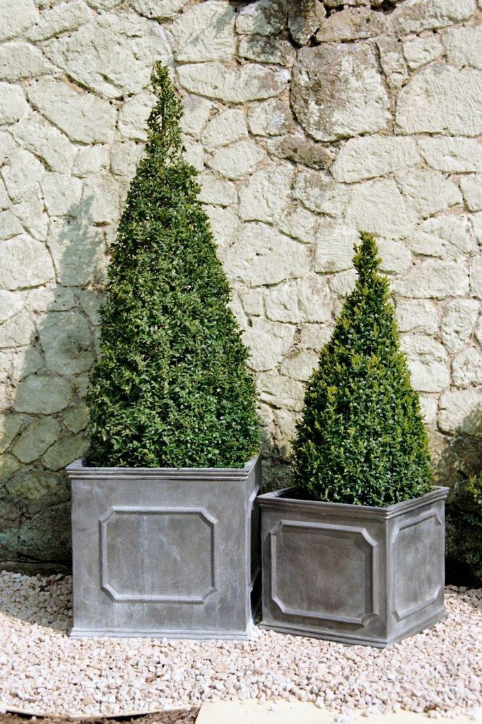 jardineras de madera, decoración de exteriores, macetas altas de