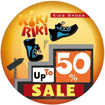 Sales sticker design for KikiRiki kids shoes