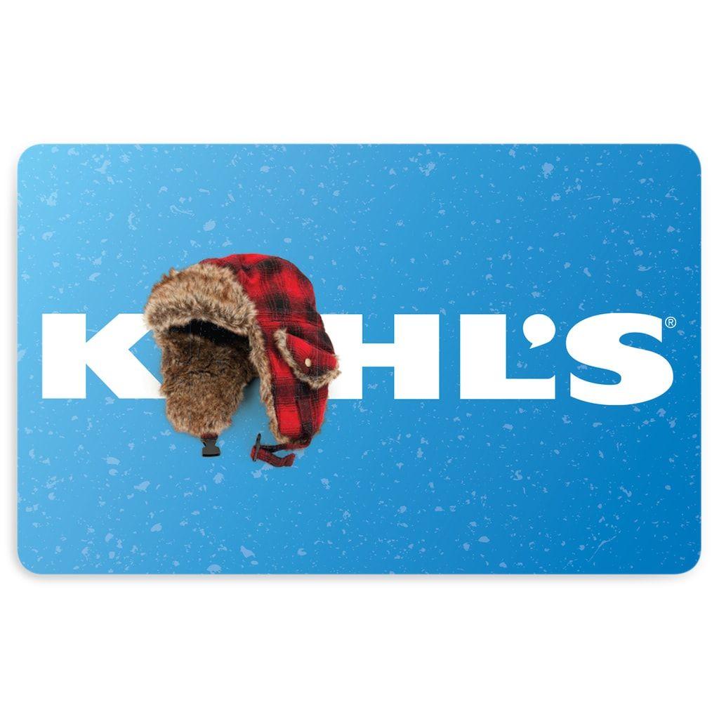 Kohls Winter Gift Card Multicolor