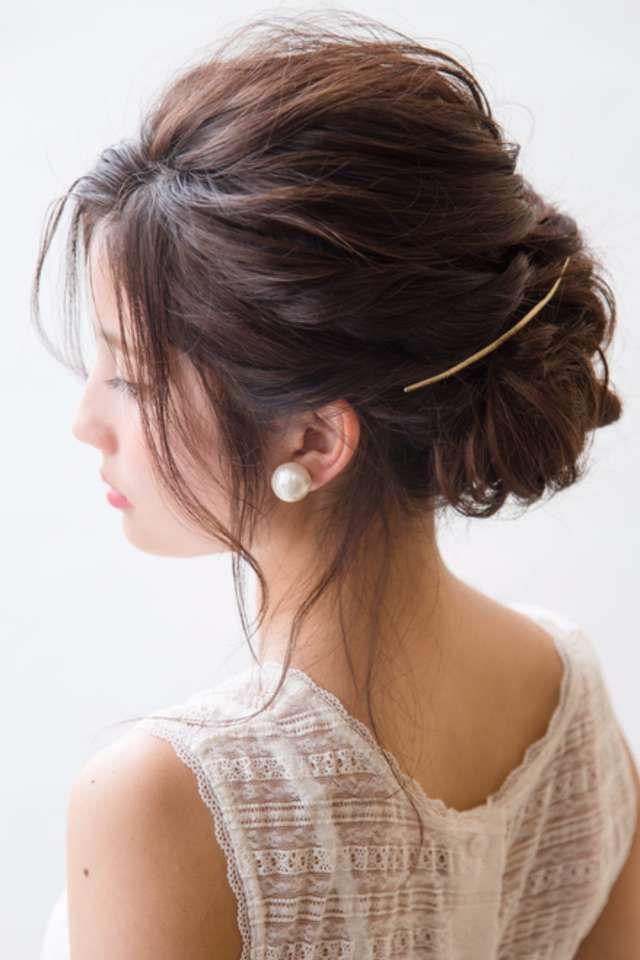 結婚式お呼ばれの髪型 ショートヘア ボブ 特集 おしゃれにキマる