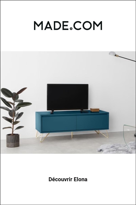 Elona Meuble Tv Bleu Canard Et Laiton Gold Room Decor Green Bedroom Walls Gold Rooms